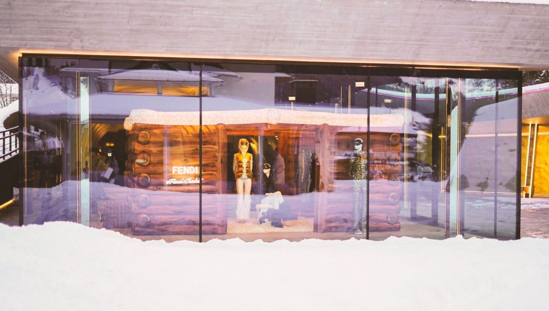 FENDI's Pop Up Ski Chalet in Dobbiaco at Franz Kraler