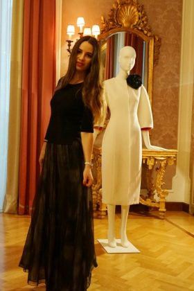 La Coquette Italienne in a Deux A outfit at ESME VIE presentation