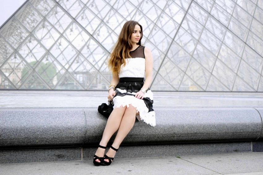 La Coquette Italienne - Black and white dress