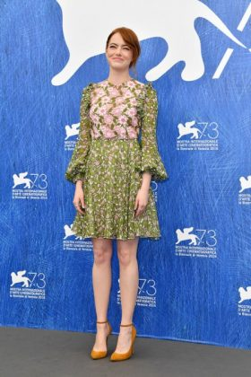 Emma Stone with a Giambattista Valli dress