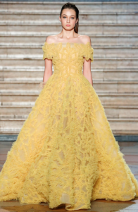 Tony Ward Haute Couture Primavera Estate 2020 giallo 01