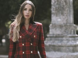 trendy tartan Saint Laurent