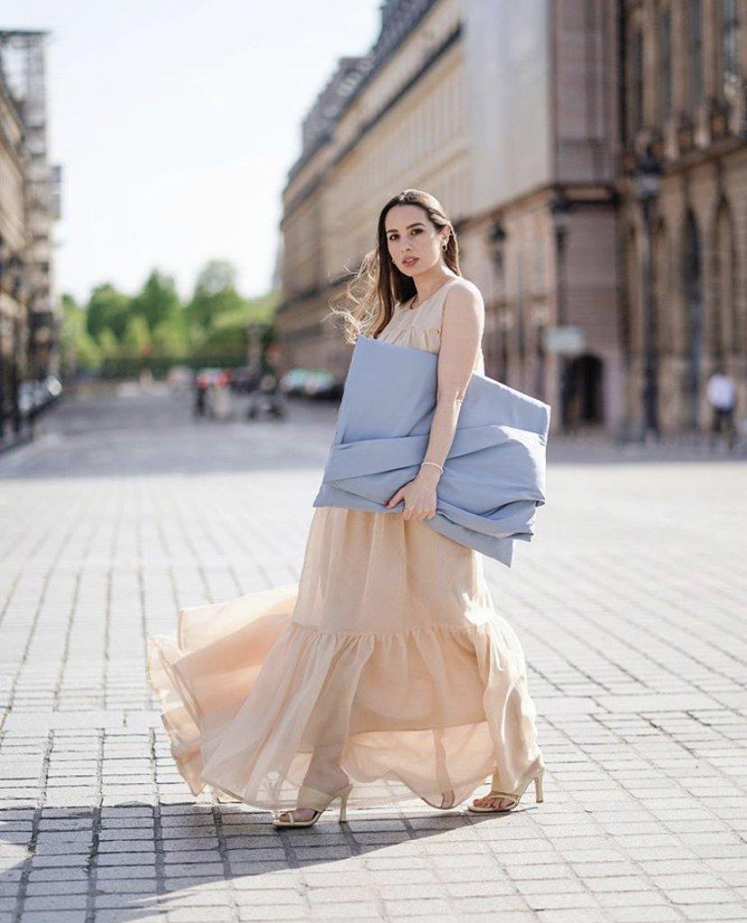 Maria Rosaria Rizzo wears Natan couture