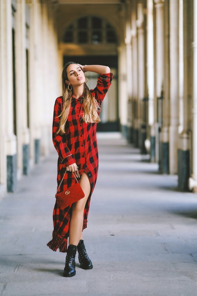tartan dress by Imprevu Belgium