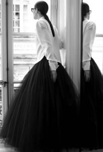 Chanel haute couture 2021 tulle skirt