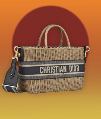 Country chic Dior borsa midollino